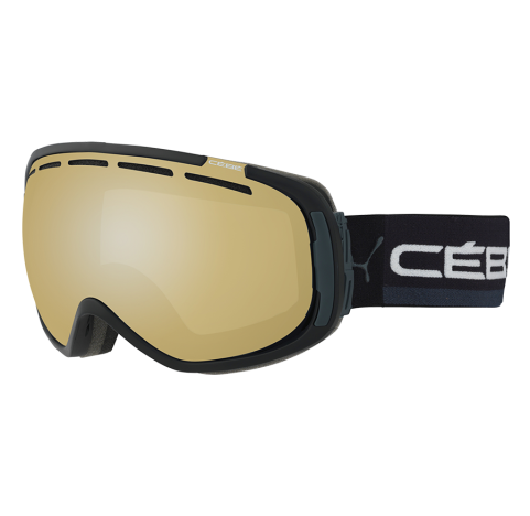 FEEL'IN FULL BLACK & GREY Masque de ski CEBE PHOTOCHROMIC 1-3
