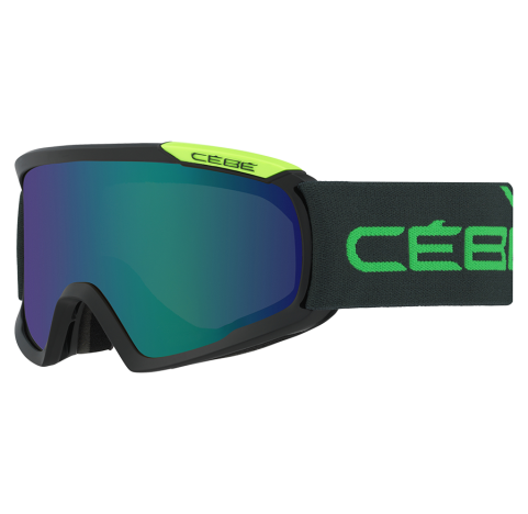 FANATIC L BLACK & GREEN Masque de ski CEBE