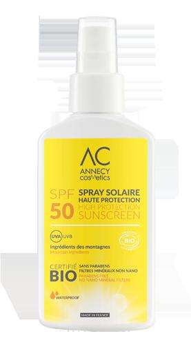 SPRAY SOLAIRE BIO SPF50 Annecy Cosmetics