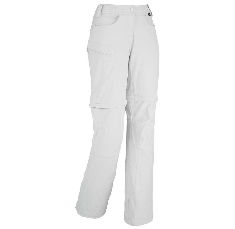 LD TREKKER STRECHT ZIP OFF PANT MILLET - pantalon femme transformable short randonée - Storm Grey