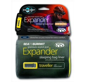 EXPANDER SLEEPING BAG LINER TRAVELLER SEA TO SUMMIT - DRAP DE SAC polycoton douceur confort solide