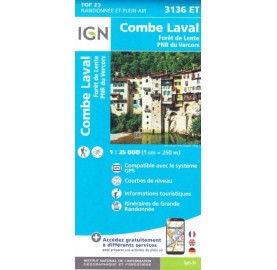 Carte IGN 3136ET COMBE LAVAL IGN TOP 25