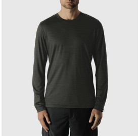 GRAB TS LS M REDA - tee shirt manche longue merino - Gris charcoal