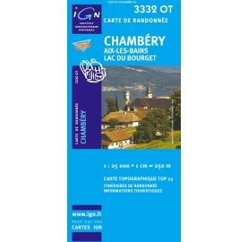 CHAMBERY AIX LES BAINS Carte IGN TOP 25 3332OT