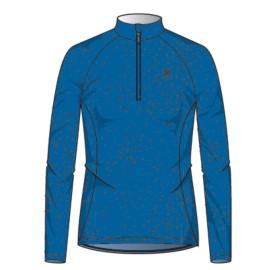 SNOWCROSS 1/2 zip LADY ODLO - pull femme sport en micro polaire - doux fin chaud - energy Blue