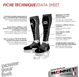 ENERGY HIGH-PERF MONNET Chaussettes de ski made in France