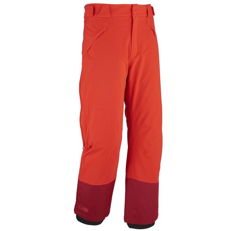 RIDGE PANT M EIDER - pantalon ski de piste chaud imperméable - rouge EIDER