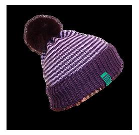 Bonnet femme avec gros pompon en fausse fourrure - EARTH pompon Star Dust Made In France