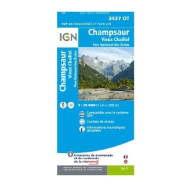 TOP 25 3437OT CHAMPSAUR Carte IGN
