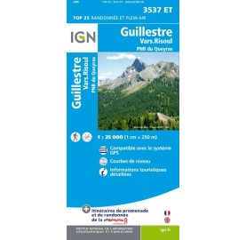 GUILLESTRE PNR QUEYRAS Carte IGN TOP 25 3537ET