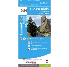 Carte IGN TOP 25 3238OT LUC EN DIOIS