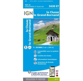 LA CLUSAZ ARAVIS IGN TOP 25 Carte IGN TOP 25 3430ET