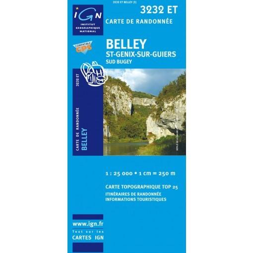 3232ET BELLEY SAINT GENIX SUR GUIERS SUD BUGEY IGN TOP 25