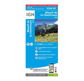 TOP 25 3334OTR CHARTREUSE SUD Carte IGN