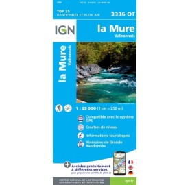 LA MURE VALBONNAIS Carte IGN TOP 25 3336OT