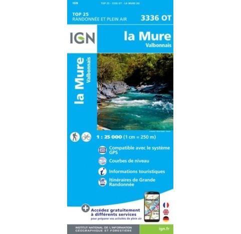 LA MURE VALBONNAIS Carte IGN TOP 25 3336OT