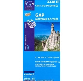 Carte IGN TOP 25 3338ET GAP