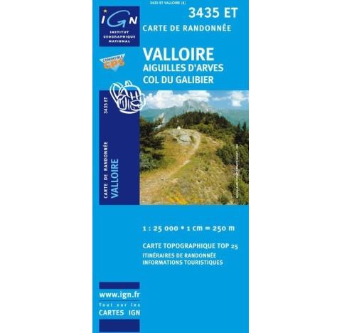 3435ET VALLOIRE AIGUILLES D ARVES COL DU GALIBIER IGN TOP 25