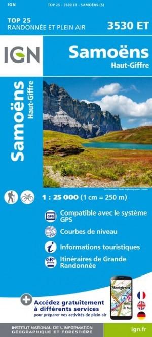 Carte IGN TOP 25 3530ET SAMOENS HAUT GIFFRE