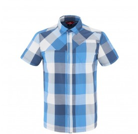 SQUAMISH CHECK SHIRT M - chemise rando respirante homme coton et polyester  - blue Wave